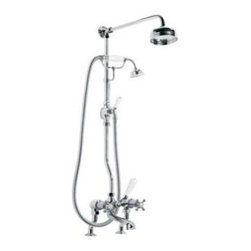Lefroy_Brooks - Lefroy Brooks - Connaught Bath Shower Mixer - CH1700-AG - 3/4 Inch w/5 Inch Rose