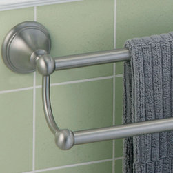 Laurel Avenue Double Towel Bar - Add this elegant double towel bar to any bathroom to achieve a traditional look. Its minimalist design is sure to match any bathroom decor.