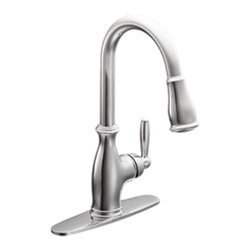 Moen - Moen 7185C Single Handle High Arc Pulldown Kitchen Faucet - The Brantford series features a traditional, clean style to your home, giving it a beautiful look and timeless appeal.