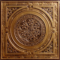 "Decorative Ceiling Tiles - Steampunk - Faux Tin Ceiling Tile - 24""x24"" - #225 - Find copper, tin, aluminum and more styles of real metal ceiling tiles at affordable prices . We carry a huge selection and are always adding new style to our inventory."