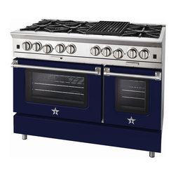 "BlueStar Platinum Series: 48"" Range - 48"" BlueStar Platinum Range in Cobalt Blue (RAL 5013)"
