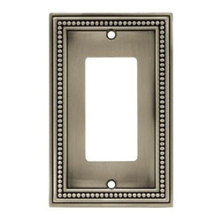 Liberty Hardware - Liberty Hardware 64778 Beaded WP Collection 3.19 Inch Switch Plate - The Beaded design adds elegance and sophistication to every room. The satin nickel finish brings distinguished style and grace to any room. Quality zinc die cast base material. Available in the 10 most popular wall plate configurations. Width - 3.19 Inch, Height - 5 Inch, Projection - 0.3 Inch, Finish - Brushed Satin Pewter, Weight - 0.28 Lbs.
