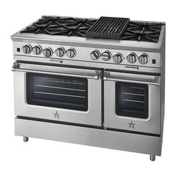 "BlueStar BSP488B 48"" Platinum Series Range - New features found only on the Platinum Series offer unsurpassed power and performance for discerning home chefs who demand restaurant-quality results. Welcome to the future of home cooking."