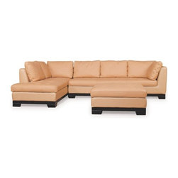 Carbonia Leather Sectional TD691 - This classic leather sectional is a signature piece in the Carbonia Collection