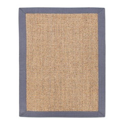 Anji Mountain AMB0123 Minivet Sisal Rug - Gray / Tan - Resistant to saltwater deterioration, the Anji Mountain AMB0123 Minivet Sisal Rug - Gray / Tan is the must have area rug for your seaside home. Constructed of the most hard-wearing natural fibers, sisal, this area rug features a complimenting gray border surrounding a tan center.About Anji Mountain Bamboo Rug Co.Anji Mountain Bamboo rugs and office chair mats are ecologically friendly. Bamboo has a robust root system that generates multiple new shoots for every mature stalk that is harvested. Unlike hardwood that can take decades to grow to a mature height ready for harvest, bamboo grows 8-12 feet a year! When you purchase a rug or office mat from Anji Mountain Bamboo Rug Co., you help support the ecologically responsible practice of regulating sustainable bamboo forests instead of clear-cutting old-growth hardwood forests.The dense, durable bamboo that Anji Mountain Bamboo Rug Co. uses is carbonized and kiln dried to remove moisture, which helps prevent cracking and warping. Because of this process, their bamboo rugs and office chair mats are ready to withstand the dry heat of your home or office in the wintertime or the arid climate of those living in the desert and mountains.