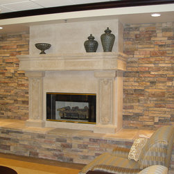 Fireplace surrounds and mantels - Fireplace surround and mantel by Realm of Design