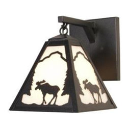 Steel Partners Inc - Hanging Sconce - TIMBER RIDGE MOOSE - Every piece we create is unique — handcrafted at our factory in Chehalis, Washington, USA. Due to this, lead times are 2 to 4 weeks.