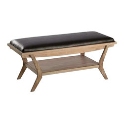 Cooper Classics - Cooper Classics 44x18 Inch Onslow Bench in Light Wood and Natural - The Onslow bench will make a stylish as well as functional addition to any room. This lovely distressed white wash finished bench will make a wonderful addition to any decor.