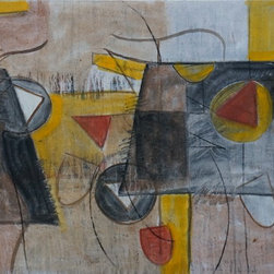 """Tom Hamilton, 1951 - 2011, Oil on Canvas (20) - Unsigned, stretched canvas; 48""""W. X 35.5""""H."""