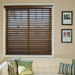 """2"""" FauxWood SmartPrivacy™ - 2""""Performance Faux Wood™ blinds represent advances in engineering, formulation and style. By combining the most attractive elements of blinds with the timeless elegance of shutters, Performance Faux Wood™ blinds are able to provide exceptional value and refinement to any home."""