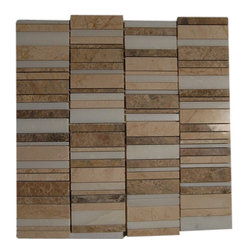 "Rapids Pattern Desert Soils Marble Tiles - sample- RAPIDS PATTERN DESERT SOILS 1/4 SHEET GLASS TILE SAMPLE You are purchasing a 1/4 sheet sample measuring approximately 6"" x 6"". Samples are intended for color comparison purposes, not installation purposes. -Glass Tiles -"