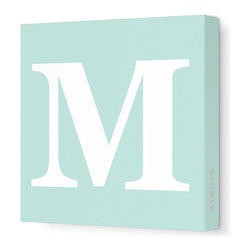 "Avalisa - Letter - Upper Case 'M' Stretched Wall Art, 12"" x 12"", Sea Green - Spell it out loud. These uppercase letters on stretched canvas would look wonderful in a nursery touting your little one's name, but don't stop there; they could work most anywhere in the home you'd like to add some playful text to the walls. Mix and match colors for a truly fun feel or stick to one color for a more uniform look."