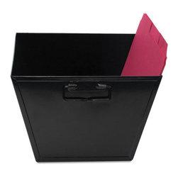 Advantus - Advantus Steel File and Storage Bin, Letter, 12 1/2 x 11 1/4 x 7 3/8, Black - Holds hanging folders.