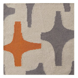 """Surya - Textila Hand Woven Wool Rug in Burnt Orange / Gray / Light Gray (3'3"""" x 5&# - This modern rug is made of wool using hand woven for maximum durability and softness. The Hand Woven Wool Rug by Textila will spice up your home decor. Finished in Burnt Orange, Gray and Light Gray.    Features:"""