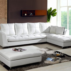 Phoenix Contemporary Leather Sectional - This 3-pieced contemporary sectional brings style, comfort and elegance to your living room decor.