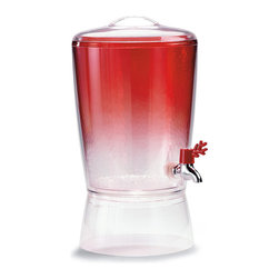 Frontgate - Kim Seybert Beverage Dispenser - Glasses are sold in sets of 4. Made from impact-resistant acrylic. Hand wash pitcher and beverage dispenser; all others, top-rack dishwasher safe. Not recommended for microwave use. Coordinates with our entire Kim Seybert Collection. The coral hue of the Kim Seybert Coral Drinkware Collection brings the taste of the tropics right to your backyard or beach house. This crystal clear acrylic drinkware features a beautiful coral accent.. . . . . Imported.