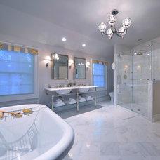 Traditional Bathroom by Kim E Courtney Interiors & Design Inc