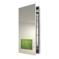 Electric Mirror - Seamless Left Recessed Medicine Cabinet ...