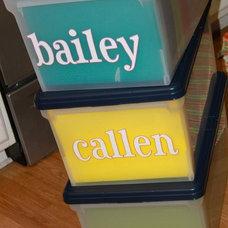 Kids memory box idea. Organised by age