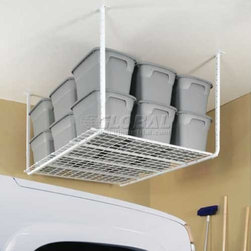 Adjustable 30-40 Heavy-Duty Ceiling-Mounted Shelf Storage System - Make the most out of your garage space with an overhead storage system.
