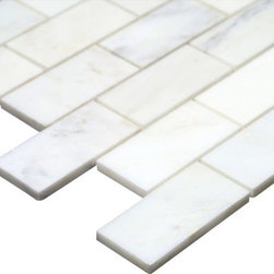 All Marble Tiles - Arabescato Carrara Polished Marble 2x4 Brick Bathroom and Kitchen Mosaic Tile - Looking for a great Italian theme in your living room, bathroom or kitchen? Your search ends here with high end Arabescato Marble Collection. This collection has unique looking tiles made of white marble and attractive grey veins running through the white surface. These tiles are highly recommended in a classic or modern styled home because they remain timeless in demand.