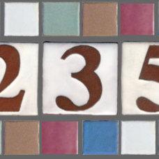 Mediterranean House Numbers by clayworks