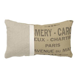 Homeware Decorative Accent Pillows - 10x20 French Word Pillow