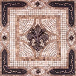 Landmark Metalcoat - Landmark Metalcoat Fleur De Lys Vienna Mosaic Medallion 24 Inches, Nickel - All Landmark Metalcoat are made to order. Lead time 3-5 weeks. Proudly made in USA.