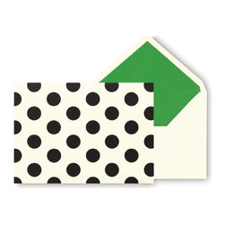 Kate Spade - Kate Spade Notecards, Black Dots - With these kate spade new york correspondence cards you can keep in touch with an old pen pal or long-distance friend in a bright and bold fashion.