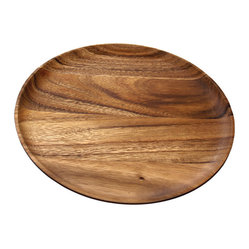 Be Home - Acacia Round Plate, Set Of 4, Medium - Why not chuck the china for a change! You'll delight your dinner guests with these intriguing plates, a four-piece set made of ecologically forested acacia trees.