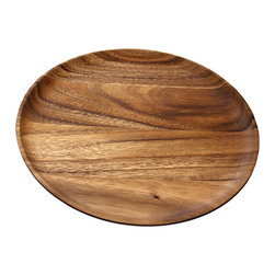 Be Home - Acacia Round Wood Plates, Set of 4 - Why not chuck the china for a change! You'll delight your dinner guests with these intriguing plates, a four-piece set made of ecologically forested acacia trees.