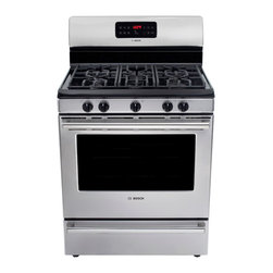 "Bosch 500 Series 30"" Gas Freestanding Range, Stainless Steel 