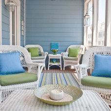 Traditional Porch by Coastal Haven Design