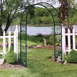 Austram Vintage Iron Arch Arbor - Add some charm to your outdoor space with this iron arbor.