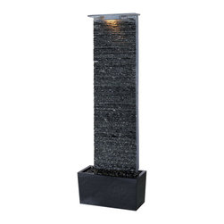 Kenroy Home - Kenroy 50252GYSL Bedrock Falls Floor Fountain - The natural wonders of Slate are showcased in these artfully crafted fountains.  The beauty of moving water over slate will transform any space into a retreat.