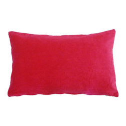 JITI - Small Pink and Velvet Pillow - Who can resist a classic? With this velvet throw pillow, available in oodles of sizes and colors, you won't have to! Ideal for mixing and layering, go ahead and experiment. Change your look as often as you can move this one here, and that one there. Anywhere it lands, it's a perfect fit.