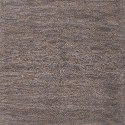 Jaipurrugs - Lustrous Finish Wool Gray/Zone Rectangle Area Rug Border Color Liquorice 2' x 3' - Hand-Tufted Lustrous Finish Wool/ Art Silk Gray/ Zone Rectangle Area Rug Border Color Liquorice 2' x 3'.