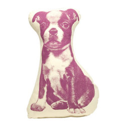 Salvor Fauna Boston Terrier Pico Pillow Design By Ross Menuez - Material: Organic Cotton Dimensions: 7 x 9 x 3 inches Designer: Ross Menuez A petite pillow or plaything. Inspired by Victorian shaped pillows, these cushions or dolls are created with the graphics based on the first mass produced images from Nineteenth century illustrations. Ross Menuez has designed and developed everything from small aircraft, kitchen, office, and home furnishings to commercial interiors throughout Europe, U.S., and Japan. He founded Salvor Projects in 2003. His list of accomplishments: Finalist in 2009 Cooper-Hewitt National Design Award; Commissioned pieces for Mariko Mori and Bruce Weber; costume for Bjork; Menuez's line is currently sold in retailers around the world such as Isetan in Tokyo, Space Mue in Seoul, Maria Luisa in Paris, Maxfield and Barneys in Los Angeles, and Dover Street Market in London.