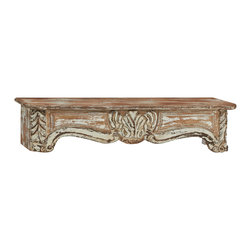 Rustic and Timeless Wood Wall Shelf - Description: