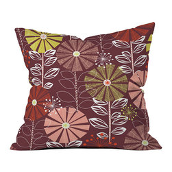 DENY Designs - DENY Designs Khristian A Howell Cape Town Blooms Warm Throw Pillow - Raise the bar with floral decor. Bring back the throw pillow with DENY Designs ' Khristian A Howell Cape Town Blooms Warm Throw Pillow, featuring a modern floral pattern. Each fade-resistant pillow is specially printed to order for long-lasting color and comfort. Make a bold statement while supporting art: DENY works with artists and art communities around the world to create custom home decor accessories you can really love. The concealed zipper makes it easy to wash, while the warm color palette is easy to match with all different colors and patterns!Custom printed to orderFade resistantWoven polyester coverConcealed zipper6-color dye processKhristian A Howell collection