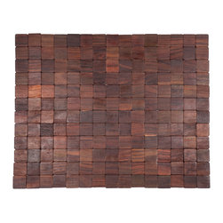 Entryways - Mather Exotic Wood Mat - Natural 18x30 - Crafted of exotic wood, this handsome mat will add an elegant touch to any home. It is from Entryways Exotic Woods collection and meets the industry's highest standards. This design combines natural beauty and durability with surprising affordability.