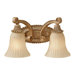 FEISS - Feiss Blaire 2 Light Vanity Strip in Medium Aged Wood VS18802-MAW - Feiss Blaire 2 Light Vanity Strip in Medium Aged Wood VS18802-MAW