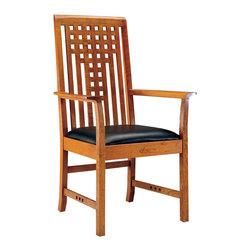 Stickley Lattice Arm Chair 91-2041-A -