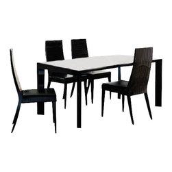 Rossetto - Rossetto Nightfly 6 Piece Rectangular Dining Table Set in Ebony - Rossetto - Dining Sets - R4132055431036PcDiningSetPKG