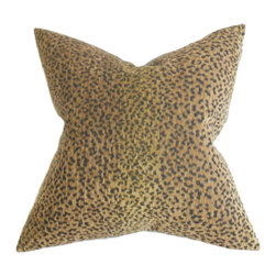 The Pillow Collection - Mesa Animal Print Pillow - Create a bold and exotic vibe in your living space by adding this beautiful throw pillow. A lovely animal print featured in this accent pillow lends a safari-inspired look to your interiors. This is the perfect statement piece to decorate any of your furniture pieces. Blend in solids of the same color palette or other contrasting patterns for a fun decor style. Made of 70% rayon, 17% polyester and 13% cotton material. Hidden zipper closure for easy cover removal.  Knife edge finish on all four sides.  Reversible pillow with the same fabric on the back side.  Spot cleaning suggested.