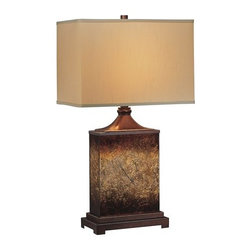 Lite Source - Lite Source LS-21214 1 Light Table Lamp with Square Fabric Shade from the Kingsl - 1 Light Table Lamp with Square Fabric Shade from the Kingsley Series