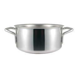 Frieling - Catering Braisier, 11.2 qt. - Commercial grade thick copper core sandwiched between 18/10 stainless steel