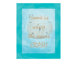 Oh How Cute Kids by Serena Bowman - Nautical Home is Where the Waves Crash, Ready To Hang Canvas Kid's Wall Decor, 1 - Each kid is unique in his/her own way, so why shouldn't their wall decor be as well! With our extensive selection of canvas wall art for kids, from princesses to spaceships, from cowboys to traveling girls, we'll help you find that perfect piece for your special one.  Or you can fill the entire room with our imaginative art; every canvas is part of a coordinated series, an easy way to provide a complete and unified look for any room.