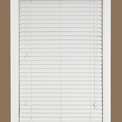 Achim Import - Achim Import Madera Falsa Blinds, White, 35x64 - 2 Inch Faux Wood Room Darkening Plantation Blind with 2-1/2 Inch Valance