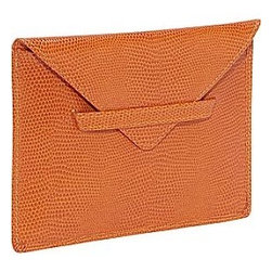 Lizard Print Photo Envelope, Tangerine - This would be great for storing photos on a bookshelf.